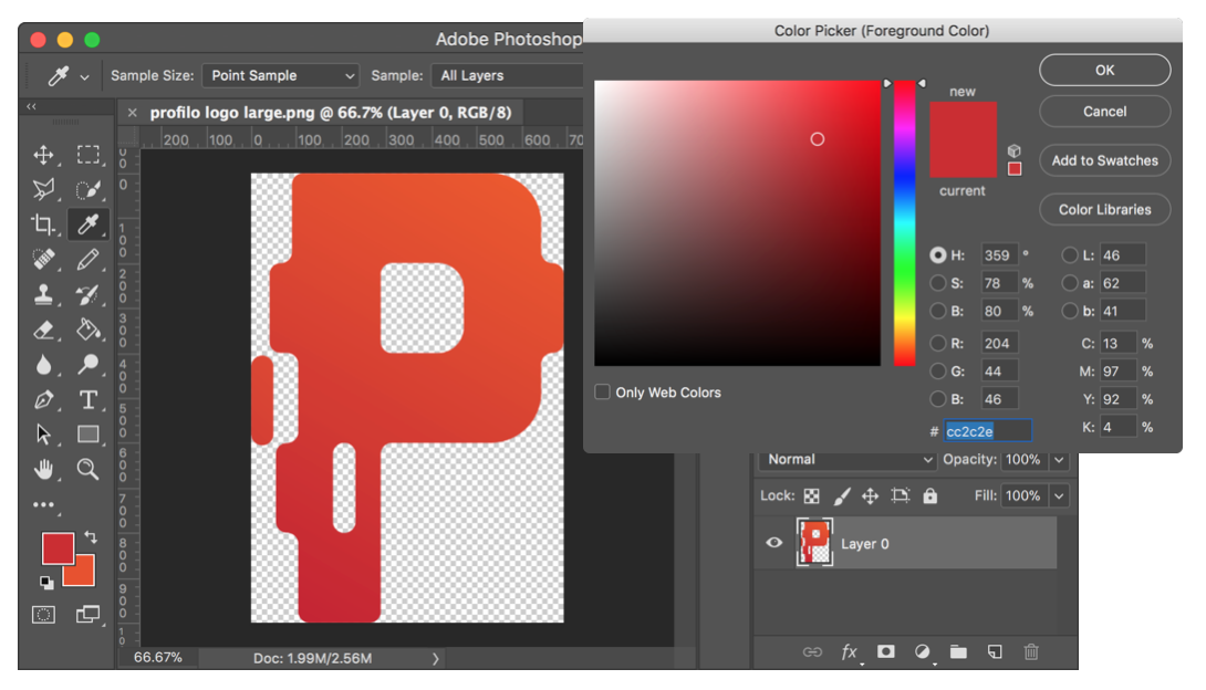 Picking Color Photoshop